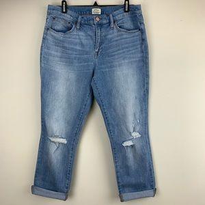 J.Crew Slim Broken In Boyfriend Capri Jeans Sz 30